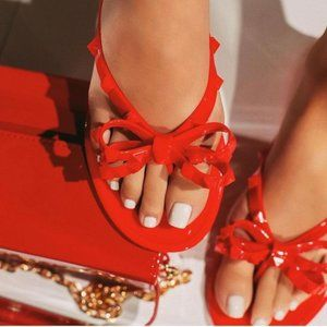 Shoes - NEW! Red Bow Jelly Sandals